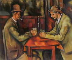 "Paul Cézanne, Aix-en-Provence, France French artist and Post-Impressionist painter. ""The Card Players"" The Courtauld Gallery London. Cezanne Art, Paul Cezanne Paintings, Oil Paintings, French Paintings, Impressionist Paintings, Paintings Online, Paintings Famous, Classic Paintings, Contemporary Paintings"