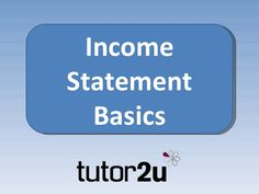 This brief presentation provides students with an introduction to, and overview of, the income statement Income Statement, Social Science, Economics, Presentation, Students, Business, Building, Ideas, Buildings