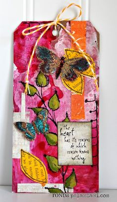 Ronda Palazzari Heart Butterfly Tag