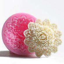 Nova chegada mindinho 3D rosa sabonete artesanal molde de silicone bolo de chocolate fondant candle moldes de decoração do bolo molde 2016(China (Mainland))