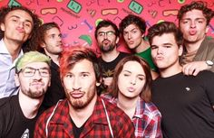 Hangin' out with the crew! Markiplier, Pewdiepie, Joe Sugg, Caspar Lee, Sean William Mcloughlin, Cryaotic, Jack And Mark, Youtube Gamer, Septiplier