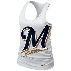 Nike Milwaukee Brewers Ladies Cotton Tank Top - White