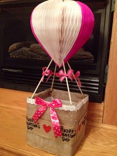 Valentine Box hot Air Balloon