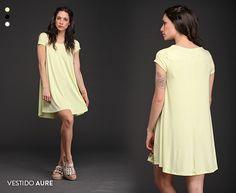 El Vestido Aure es un comodín de temporada. Su formato se adapta a todo tipo de siluetas. Encontralo en 3 colores imperdibles. #Vestidos #Tendencias