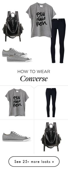 """""""Untitled #168"""" by lina2001-i on Polyvore featuring Frame Denim, Sincerely, Jules and Converse"""