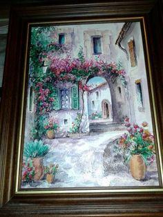 Geniune oil painting, from Spain Craft Sale, San Antonio, Spain, Arts And Crafts, Paintings, Oil, Paint, Sevilla Spain, Painting Art