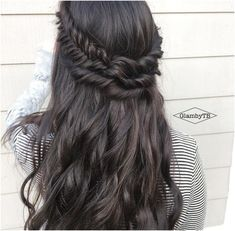 try haircuts on your hair waves curls half up half wedding hair prom 5967