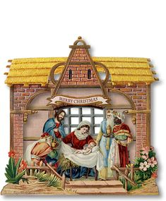 Heureux Noël Miniature Nativity - PaperModelKiosk.com