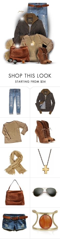 """Isharya"" by rockreborn ❤ liked on Polyvore featuring Hollister Co., Superdry, Saint James, Gianvito Rossi, Zadig & Voltaire, Avindy, The Row, Ray-Ban and Isharya"