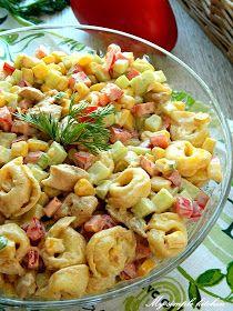 My simple kitchen: Sałatka z kurczakiem i tortellini Tortellini, Easy Entertaining, Food For Thought, Pasta Salad, Food And Drink, Chicken, Baking, Breakfast, Ethnic Recipes