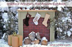 I heart Ana White... she makes building things look so easy! I really want a 'fire place' this year for christmas!!!