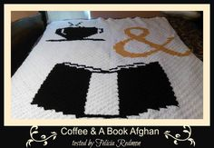 Coffee and Book Afghan C2C Graph  Written Word by CrochetCouch