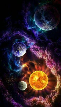 Wallpaper Earth, Planets Wallpaper, Wallpaper Space, Wallpaper Backgrounds, Iphone Wallpapers, Space Backgrounds, Cute Galaxy Wallpaper, Cool Wallpaper, Rainbow Wallpaper