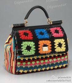 Crochet Bag NO PATTERN - INSPIRATION ONLY