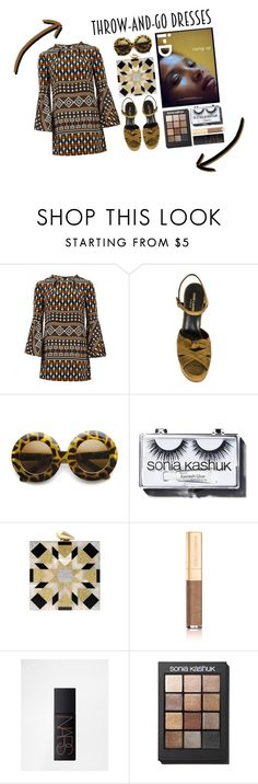 """B O A R D W A L K  /  I ' M  N O T  M Y S E L F"" by bluecreature ❤ liked on Polyvore featuring Gucci, Yves Saint Laurent, Sonia Kashuk, KOTUR, Dolce&Gabbana and NARS Cosmetics"