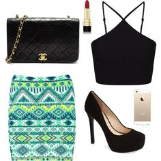 Untitled #10 by miniafrica on Polyvore featuring polyvore fashion style Miss Selfridge Boohoo Jessica Simpson Dolce&Gabbana Chanel