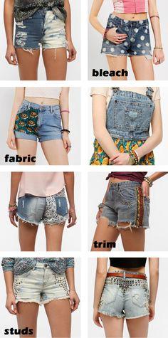 DIY Denim Basics, the newest fashions for girls shorts!