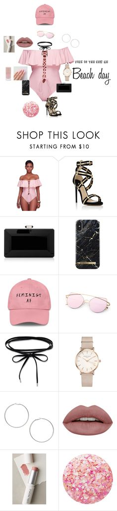 """""""Pink on the beach"""" by lightskinqueen23 on Polyvore featuring WithChic, Paul Andrew, Judith Leiber, ROSEFIELD, Miss Selfridge, W3LL People, Nails Inc. and Forever 21"""