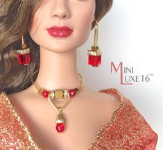 Jewelry for 16 Doll Tonner Tyler Sydney by MiniLuxeCollection Barbie Hair, Barbie Clothes, Barbie Dolls, Barbie Stuff, Fashion Royalty Dolls, Fashion Dolls, Jewelry Model, Jewelry Sets, Manequin