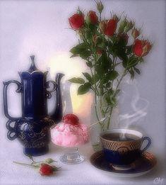 Um chá com porção de carinho♥                    Uma  xícara de Amor.                                     Uma pitada de emoção.                                    uma xícara de  Magia ♥