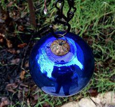 Stunning Antique Cobalt Blue Blown Glass German Kugel Christmas Ornament by OldStNicksAttic on Etsy