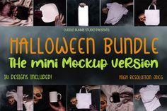 Mini Mockup Halloween Bundle| Scary and Enchanting Mockups Free Design, Your Design, Photo Report, Background For Photography, School Design, Design Bundles, Mockup, Design Elements, Cuddling