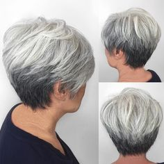 Gray+Tapered+Pixie+For+Women+Over+50