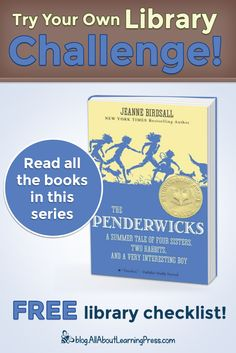 Challenge your child to read all the books in The Penderwicks chapter book series! Four Sisters, Free Library, Reading Challenge, Chapter Books, Book Series, Bestselling Author, Homeschool, Challenges, Child