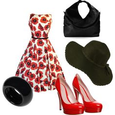 """Red!"" by mandy-e-racine on Polyvore"