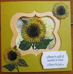 De Stempelwinkel - Designteam      : Sunflower / zonnebloem