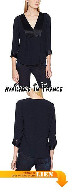B0744VXZM3 : La Petite Française Tresor Chemise Femme Bleu (Marine) 40 (Taille Fabricant: 40).