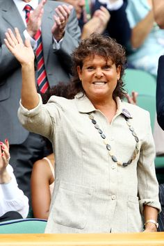 Evonne Goolagong Cawley - is an Australian former World No.1 female tennis player. She was one of the world's leading players in the 1970s and early 1980s, when she won 14 Grand Slam titles: seven in singles (four Australian Open, two Wimbledon and one French Open), six in women's doubles, and one in mixed doubles.