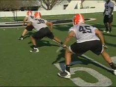 Georgia Bulldogs - Linebacker Drills - YouTube