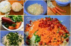 Απλή λαχανοσαλάτα σκέτη ή με σάλτσα γιαουρτιού - cretangastronomy.gr Risotto, Grains, Rice, Ethnic Recipes, Food, Essen, Meals, Seeds, Yemek