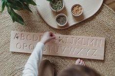 Wooden Double Sided Cursive Alphabet Board - Montessori Learning Resou – Coach House Woodworks Alphabet Board, Cursive Alphabet, Alphabet Tracing, Wooden Alphabet, Cursive Fonts, Pencil Grip, Muscle Memory, Coach House, Felt Ball