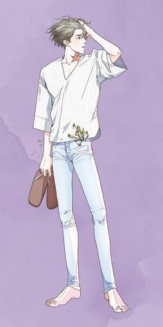 Kpop Anime, Anime Guys, Bts Art, Fanart Bts, Kawaii Tattoo, Exo Fan Art, Kpop Drawings, Art Reference Poses, Korean Art