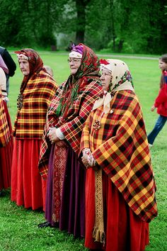 Latvian grandmothers in a national costume. Photo by Gatis Staprens on flickr.