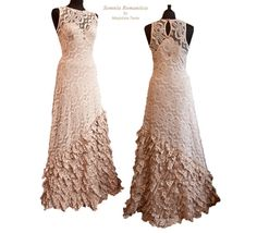 Art nouveau wedding dress blush nude vintage door SomniaRomantica, $650.00