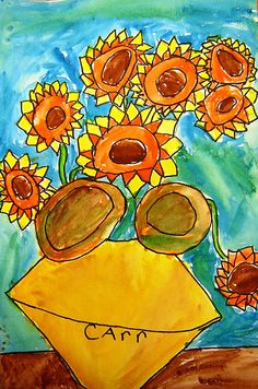 Dutch Artist Vincent Van Gogh Sunflowers