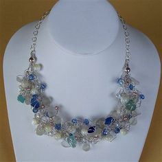 Bir'ds Nest Necklace with Wire with Pearls, Crystals, Shells - Media - Beading Daily