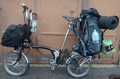 Hiking Pack on Brompton | Carrying Luggage on a Folding Bike (Brompton, Tern, or Dahon)