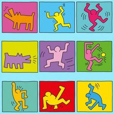 Keith Haring PDF Group picture after Keith Haring - a great project for art lessons. Mondrian, Keith Haring Kids, Art Sub Plans, Pop Art Movement, School Of Visual Arts, Alternative Art, Principles Of Art, Learn Art, Art Lessons Elementary