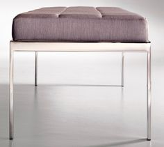 Cumberland Cambridge bench: A thick upholstered cushion featuring classic box-tufted upholstery adds comfort and the versatility to complement almost any décor or environment.