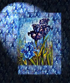 Iris. Irises Painting - Irises Fantasy by Harsh Malik