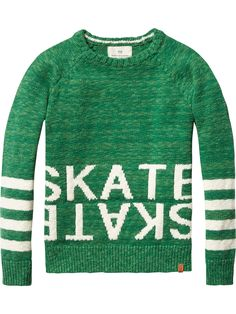 Pull en tricot intarsia   Pulls   Habillement Garçon Scotch & Soda skate sweater stripes