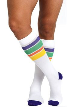 8f26db8b5a Soxxy Socks Pride Men's Compression Socks. Colorful striped socks to show  or not. $35