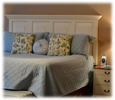 Upcycled headboard ideas - amazing what you can do with doors, wood pallets, shutters, gates, and more