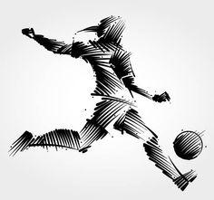 Woman soccer player kicking the ball vector art illustration Soccer Tattoos, Football Tattoo, Soccer Art, Soccer Players, Vector Art, Soccer Silhouette, Football Squads, Scribble Art, Illustration Art