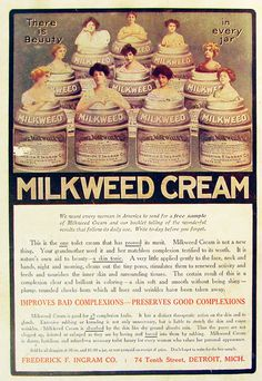 Milkweed Cream Vintage Advertisements, Vintage Ads, Artwork Ideas, Pears, Booklet, Beauty Products, Medicine, Advertising, Creatures