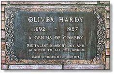 """""""Laurel and Hardy""""-- Valhalla Memorial Park: Stars' Graves - excellent slap-stick comedian along with partner Laurel."""